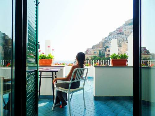 This was the balcony of our room in Positano. You think you can get a room like this as a walk-in guest? Book in advance, people!